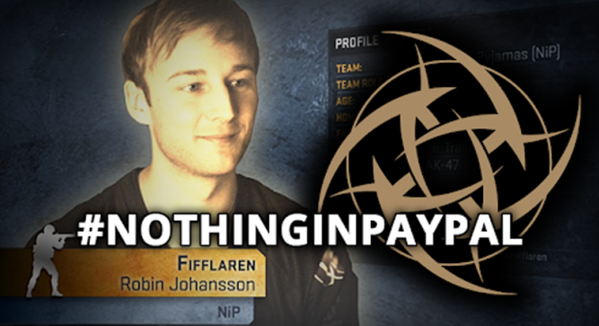 #NOTHINGINPAYPAL Rises from Ninjas in Pyjamas Pay Scandal