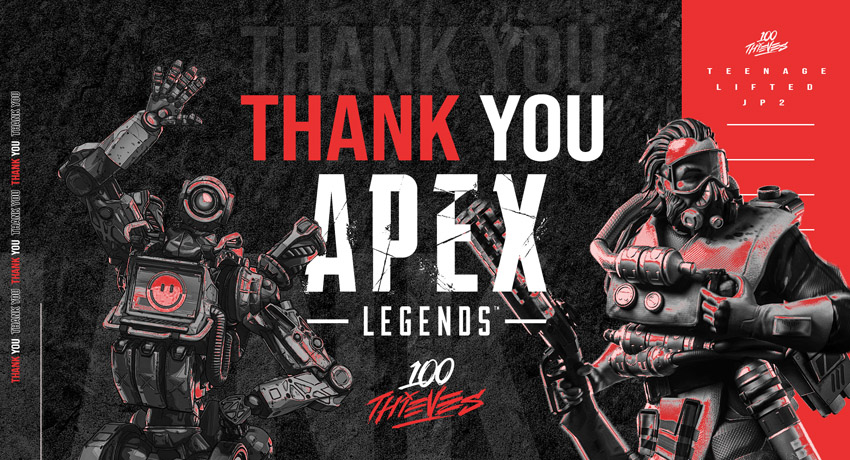 100 Thieves releases Apex Legends roster