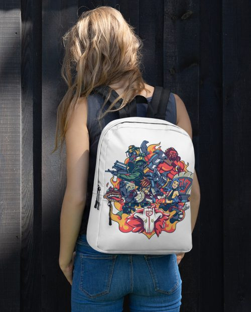 Champions of Battle Backpack – White