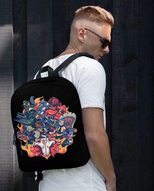 Champions of Battle Backpack – Black