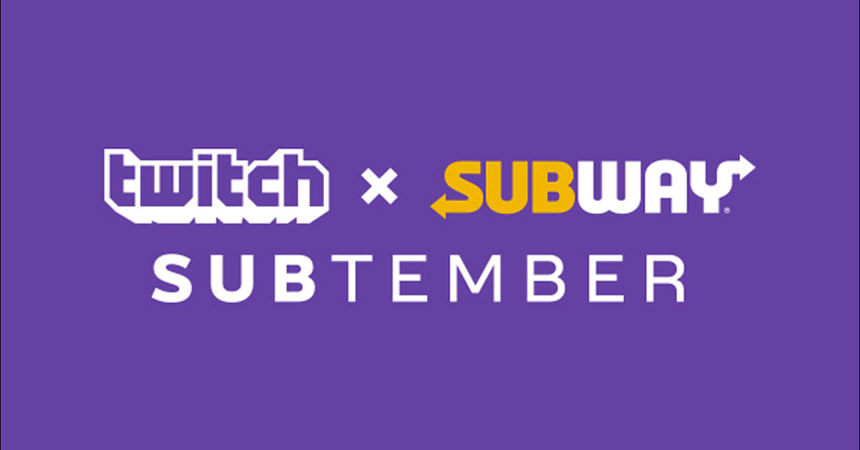 Twitch and Subway team up for SUBtember