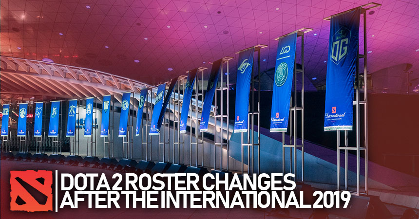 Dota 2 post TI9 roster changes