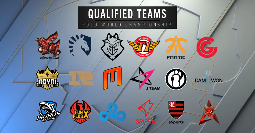 2019 League of Legends World Championship Qualified Teams