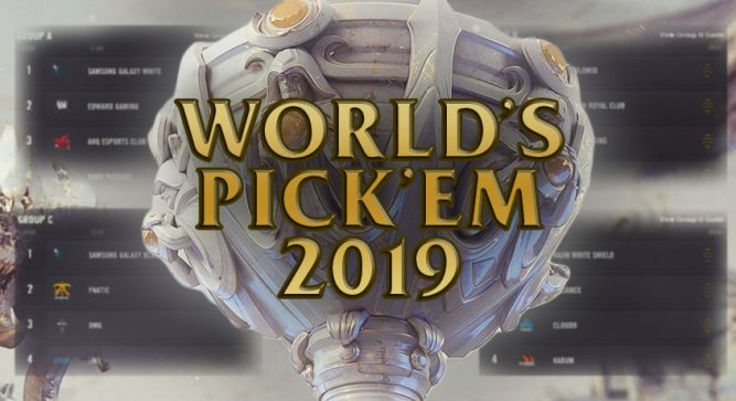 Pick'ems returning to Worlds 2019