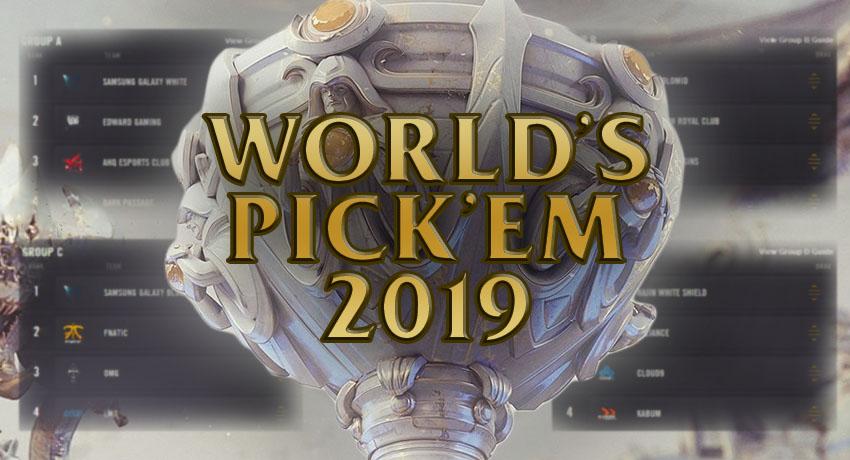 Pick'ems returning to Worlds 2019