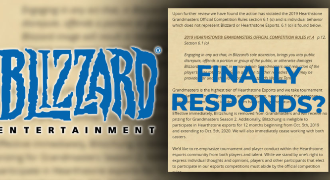 Blizzard president reduces Blitzchung's suspension and returns winnings