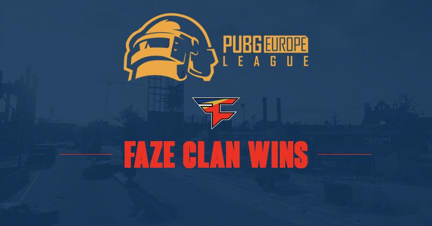 FaZe Clan takes PUBG Europe League, EU's PUBG Global Championship teams decided