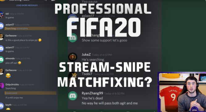 """Streamer exposes FIFA 20 professionals engaged in """"Match Fixing"""""""