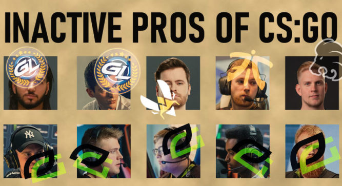 The inactive pros of CS:GO