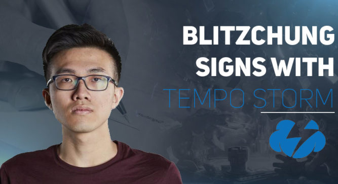 Banned blitzchung signed by Tempo Storm