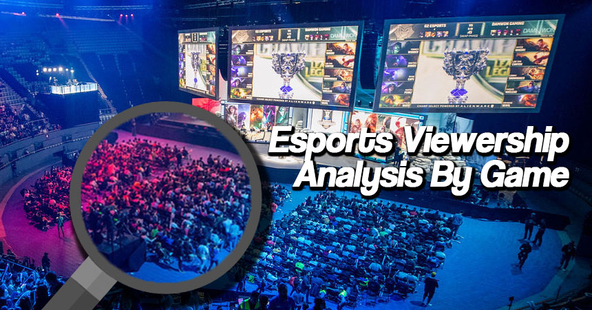Esports viewership analysis by game