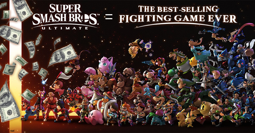 Super Smash Bros. Ultimate is the best selling fighting game ever