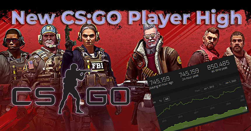 CS:GO peaks at the start of 2020