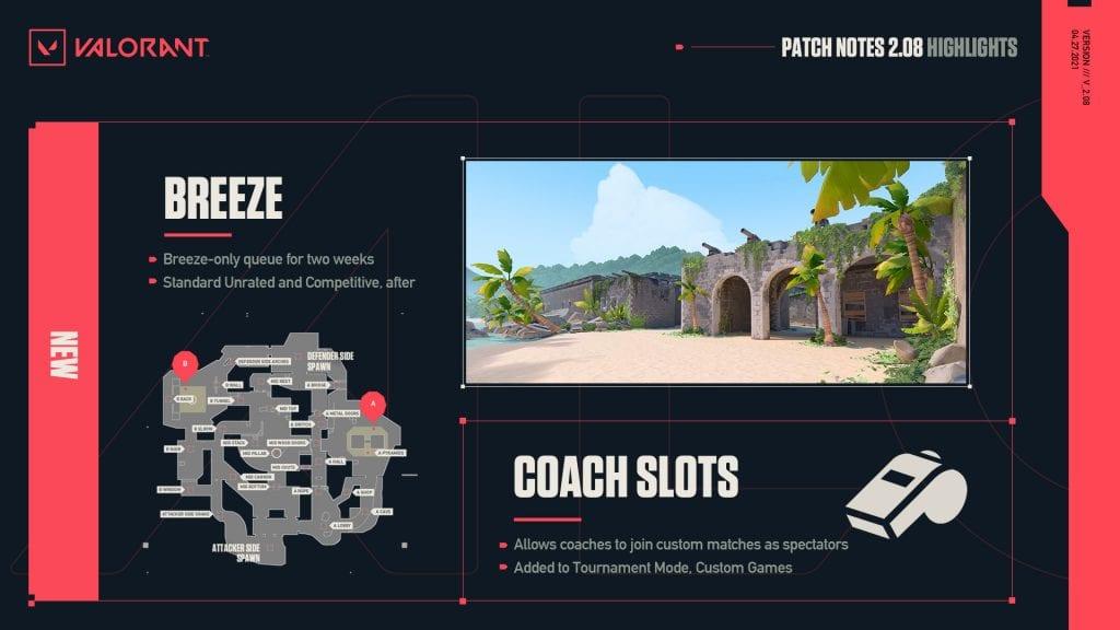 VALORANT Patch 2.08 Mode spectateur Coach